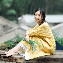 Dress Autumn of 2018 Pink flower, yellow flower (excluding sling) S,M,L Mid length dress singleton  Long sleeves Sweet Crew neck middle-waisted Decor Socket A-line skirt routine Others 25-29 years old Type X What you look like in the past and this life Embroidery, printing More than 95% brocade Mori