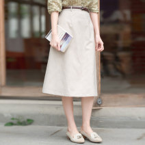 skirt Summer 2020 S,M,L,XL Beige lattice Mid length dress Versatile Natural waist A-line skirt lattice Type A 25-29 years old 51% (inclusive) - 70% (inclusive) other What you look like in the past and this life polyester fiber