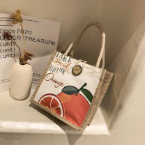 Bag handbag canvas other Miriam brand new Japan and South Korea in leisure time soft zipper yes Cartoon animation Double root nothing youth Vertical square like a breath of fresh air Soft handle