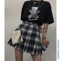 skirt Summer of 2019 S,M,L Picture color Short skirt commute High waist other lattice Type A 18-24 years old 30% and below other Other / other polyester fiber Korean version