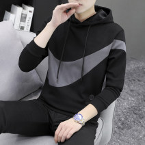 Sweater Youth fashion Chylirn / Qian Liang 165/M 170/L 175/XL 180/XXL 185/3XL 190/4XL Geometric pattern Socket routine Hood autumn Slim fit leisure time youth tide routine NK Hooded Fleece  Other 100% other printing No iron treatment Spring 2021 Pure e-commerce (online only) Japanese and Korean style