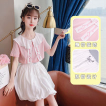 suit Other / other Pink, light green 110cm,120cm,130cm,140cm,150cm,160cm female summer Korean version Short sleeve + skirt 2 pieces Thin money There are models in the real shooting Socket nothing Solid color other Class B Other 100% 7, 8, 14, 3, 6, 13, 11, 5, 4, 10, 9, 12 Chinese Mainland Huzhou City