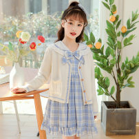 Sweater / sweater 120cm,130cm,140cm,150cm,160cm,170cm other female Dress piece, rice white cardigan piece Han you (mother and baby) Korean version There are models in the real shooting Socket routine Lapel Ordinary wool Solid color Class B 7, 8, 9, 10, 11, 12, 13, 14