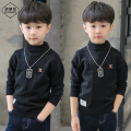 Sweater / sweater 110cm 120cm 130cm 140cm 150cm 160cm wool blend  male Yellow black yellow Plush black Plush Zhuoyi capital motion There are models in the real shooting Socket routine Crew neck nothing Ordinary wool Solid color Other 100% 2y6ecY5i_ 8oVU3 Class B