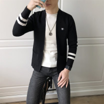 T-shirt / sweater Others Youth fashion Red, white routine Cardigan V-neck Long sleeves spring and autumn Slim fit 2019 leisure time tide teenagers routine man-made fiber
