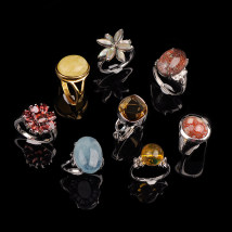 Ring / ring Natural crystal / semi precious stone 101-200 yuan Lucy brand new goods in stock Business / OL lovers Online gathering features Silver inlaid gems other JZ-100 Autumn and winter 2017 no other Exclusive to tmall (only sold in tmall)