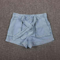 trousers Vellmentto / valmonto female 125cm,130cm,135cm,140cm,150cm,160cm,170cm Light blue, blue white spring and autumn trousers Europe and America No model Jeans Leather belt middle-waisted Denim Don't open the crotch Lyocell 100% Class B 14, 13, 12, 11, 10, 9, 8, 7, 6, 5
