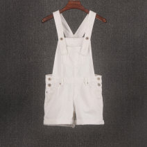 Jeans Summer 2020 white 27,28,29,30,31,32,33 shorts Natural waist rompers routine 25-29 years old Flanging Cotton denim light colour Vellmentto / valmonto 96% and above