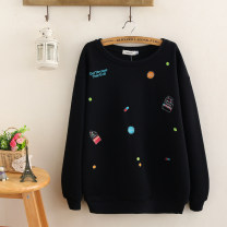 Women's large Black, Navy Large XL, large XXL, large XXL, large XXXXL, large XXXXL Sweater / sweater singleton  commute easy moderate Socket Long sleeves other Korean version Crew neck Medium length Cotton, others routine 81% (inclusive) - 90% (inclusive)