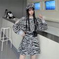 Sweater / sweater Spring 2021 White stripes, grey stripes Average size Long sleeves Medium length Socket singleton  routine Crew neck easy commute routine stripe 18-24 years old Korean version polyester fiber cotton