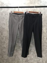 Casual pants black 2,4,6,8 Spring of 2019 Ninth pants Pencil pants High waist commute routine 51% (inclusive) - 70% (inclusive) other Simplicity wool