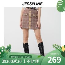 skirt Spring 2021 XS/155 S/160 M/165 L/170 Dark powder Short skirt street Natural waist A-line skirt Solid color Type A 25-29 years old 011112044-1 More than 95% Jessy·Line polyester fiber Button Polyester 97.9% polyurethane elastic fiber (spandex) 2.1% Europe and America