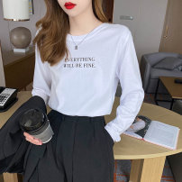 T-shirt One size fits all, s, l, XL Autumn 2020 Long sleeves Crew neck Straight cylinder Regular routine commute other 30% and below 25-29 years old Simplicity classic Solid color Other / other TX-134