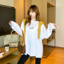 T-shirt Purple, yellow, white, black, white (letters), black (letters) Average size Autumn 2020 Long sleeves Crew neck easy Medium length routine commute cotton 96% and above 25-29 years old Korean version other letter Other / other TX-170