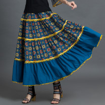 skirt Three dimensional decoration Summer 2021 Natural waist commute longuette A-line skirt Design and color Type A 71% (inclusive) - 80% (inclusive) other Chiffon Other / other Retro One size fits all Decor (single skirt)