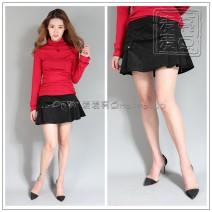 skirt Fall 2017 L Black spot Short skirt Versatile Solid color