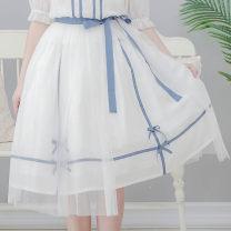 skirt Summer of 2019 M Short skirt Natural waist More than 95% Dolly+Delly polyester fiber