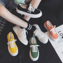 canvas shoe DD&OO Low Gang White, black, yellow, orange, green 35,36,37,38,39,40 Summer 2021 Frenulum Korean version rubber Solid color Youth (18-40 years old) Vulcanization process