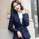 Professional dress suit S,M,L,XL,XXL,XXXL,4XL,5XL Autumn of 2018 Long sleeves loose coat Suit skirt 51% (inclusive) - 70% (inclusive)