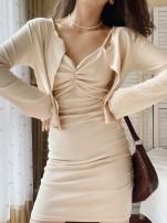 Fashion suit Autumn 2020 S, M Black, gray, off white 18-25 years old Muzimuli / muzimuli 290h745 31% (inclusive) - 50% (inclusive) cotton