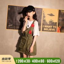 Dress Army green female Rain and stars 120cm, 130cm, 140cm, 150cm, 160cm, s (adult size), m (adult size) Other 100% summer leisure time Long sleeves love cotton other LPLQ05605 Class B 7, 8, 14, 3, 6, 13, 11, 5, 10, 4, 9, 12 Chinese Mainland Zhejiang Province Hangzhou