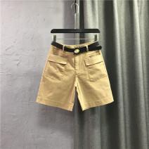 Jeans Summer 2021 White / no belt, Khaki / no belt, black / no belt S,M,L,XL,2XL Pant High waist Wide legged trousers Thin money 25-29 years old Wash, zipper, button, multi pocket Cotton denim light colour 91% (inclusive) - 95% (inclusive)