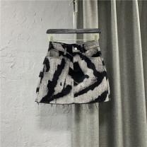 skirt Summer 2021 S,M,L,XL Short skirt commute High waist A-line skirt other Type A 25-29 years old More than 95% Denim cotton Pocket, button, zipper Korean version