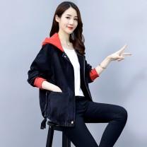 short coat Autumn 2020 2XL,XL,L,M,S Picture color Long sleeves routine routine singleton  easy street Hood zipper pocket