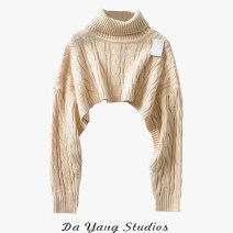 sweater Autumn 2020 Average size Khaki, black Long sleeves Socket singleton  have cash less than that is registered in the accounts other 51% (inclusive) - 70% (inclusive) High collar street routine Solid color