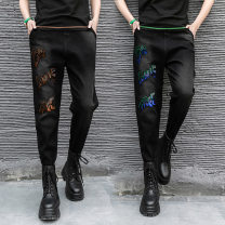 Casual pants Spring 2021 trousers Haren pants High waist street routine 18-24 years old 81% (inclusive) - 90% (inclusive) K88 cotton Make old cotton Hip hop
