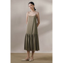 Dress Spring 2021 Gray beans, vanilla S,M,L Mid length dress singleton  Sleeveless commute Solid color camisole Murmur Mi Retro 210324MQ219 More than 95% polyester fiber