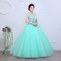 Dress / evening wear Wedding adult party company annual meeting performance XXL XS S M customized (no return, no exchange) L XL The color is shown in the picture Sweet longuette middle-waisted Summer 2016 Fluffy skirt Sling type Bandage Netting 18-25 years old Sleeveless flower Handmade flowers