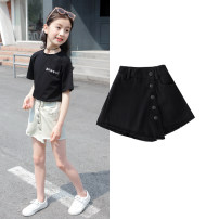 trousers Other / other female 110cm,120cm,130cm,140cm,150cm,160cm,170cm summer shorts Korean version There are models in the real shooting Jeans Leather belt High waist Cotton denim Don't open the crotch Cotton 90% other 10% Class B Chinese Mainland Zhejiang Province Huzhou City