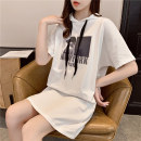 T-shirt M,L,XL,2XL Summer 2021 Short sleeve Crew neck easy Regular routine commute polyester fiber 51% (inclusive) - 70% (inclusive) 18-24 years old Korean version originality Cartoon animation, solid color printing
