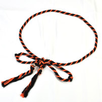 Belt / belt / chain other Red yellow orange black blue orange black orange female belt Versatile Single loop Children: 1-6 years old, young, middle-aged and old bow soft surface 1cm Knitting bows Cold weapon LBQ0108 Autumn and winter 2018