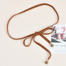 Belt / belt / chain other Apricot dark blue pink brown black female belt Sweet Single loop Children, youth, middle age and old age bow soft surface 1.0cm Knitting bows Cold weapon LBQ0227 Winter of 2019