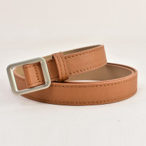 Belt / belt / chain Pu (artificial leather) Brown beibai coffee black female belt Versatile Single loop Children, youth, middle age and old age Geometric pattern Glossy surface 2.3cm alloy alone Cold weapon LBQ1021 Autumn 2020