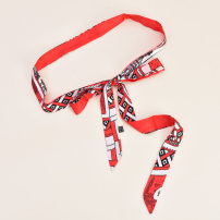 Belt / belt / chain cloth Orange (print) red (print) green (print) black (print) red black stripe female belt literature Single loop Geometric pattern printing 3.0cm Color contrast Cold weapon LBQ0187 Summer of 2019
