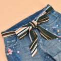 Belt / belt / chain Chiffon female belt Versatile Single loop Children: 1-6 years old, young, middle-aged and old bow soft surface 5.5cm Bowknot color contrast check Leopard Print Cold weapon LBQ0159 Spring of 2019 no