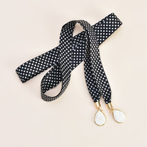 Belt / belt / chain other White wave point black wave point pink wave point Khaki wave point pure black monochrome pink rice white pure white dark green Navy female belt Sweet Single loop Children: 1-6 years old, young, middle-aged and old bow soft surface 2.5cm Bows Cold weapon LBQ0183