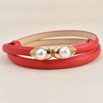 Belt / belt / chain top layer leather female belt Versatile Single loop Children: 1-6 years old, young, middle-aged and old a hook other Glossy surface 1.0cm alloy alone Cold weapon Spring 2020