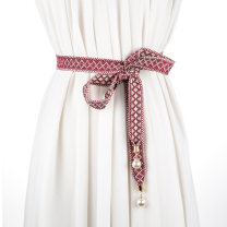 Belt / belt / chain cloth female belt literature Single loop Children, youth, middle age bow soft surface 2cm Cold weapon Spring / summer 2018 no