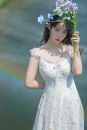 Dress Summer 2021 Decor April 12 0:00-14 limited time discount, s -, M -, L -, buy with Freesia blouse, cash back 5 yuan, s-pre-sale 7 working days, m-pre-sale 7 working days, l-pre-sale 7 working days, l-③ pre-sale 10 working days, XS - ③ pre-sale 10 working days Mid length dress singleton  Sweet