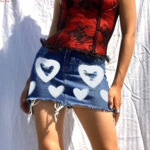 skirt Summer 2021 S,M,L blue Short skirt street A-line skirt other 18-24 years old LQ01503 51% (inclusive) - 70% (inclusive) Denim Other / other other printing