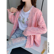 short coat Spring 2020 Average size White, pink Long sleeves routine routine singleton  easy Sweet routine 25-29 years old 51% (inclusive) - 70% (inclusive)