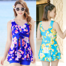 Split swimsuit Other / other Rose red, pink, yellow, sapphire blue, lake blue M (75-90kg), l (90-105kg), XL (105-120kg), XXL (120-140kg) Skirt split swimsuit With chest pad without steel support Spandex, polyester 1608 split