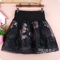 skirt Winter of 2019 M11 is for a waist of 1'9 to 2'1, L13 is for a waist of 2'2 to 2'4, XL15 is for a waist of 2'4 to 2'6 Decors: B white, C red, D yellow dot, e diamond Short skirt Versatile High waist Fluffy skirt Decor Type A 81% (inclusive) - 90% (inclusive) other cotton