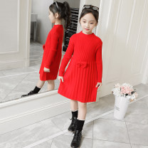 Sweater / sweater 110cm,120cm,130cm,140cm,150cm,160cm other female Korean version There are models in the real shooting routine High collar nothing Solid color Class B Chinese Mainland