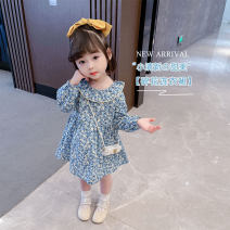 Dress Broccoli female Other / other The recommended height is about 90cm for Size 90, 100cm for size 100, 110cm for Size 110, 120cm for Size 120 and 130cm for Size 130 Other 100% spring and autumn Korean version Long sleeves Broken flowers cotton A-line skirt