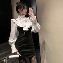 Fashion suit Spring 2021 S, M Shirt, suspender skirt 18-25 years old